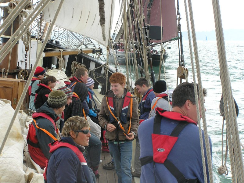 Giving young people a taste of the sea aboard Queen Galadriel, Cirdan Trust.  Small Ships Race 2007.